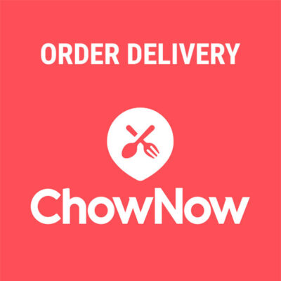 ORDER DELIVERY THROUGH CHOW NOW!